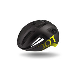 Compact, aerodynamic helmet with an ultra-ventilated design.