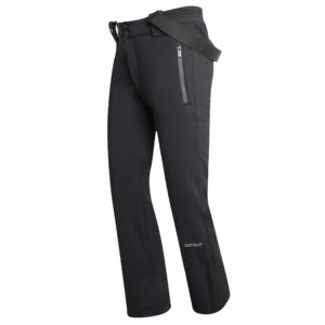 Pantalone in soft shell tecnico ed impermeabile dal look all mountain e vestibilità semi aderente