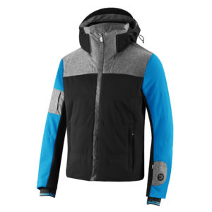 Jacket that combines waterproof Merino wool with technical fabrics, creating a mix of style and technical innovation