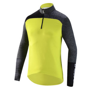 Stretchy thermal jersey with a young, dynamic vibe